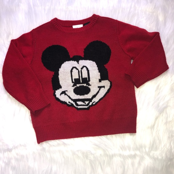 Disney Other - Disney Mickey Mouse Red Sweater 3T